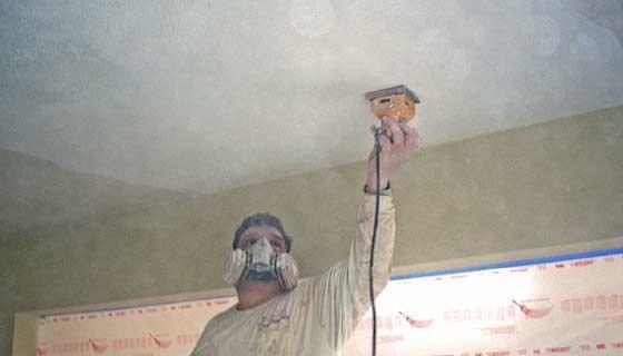 Removing Popcorn Ceilings in CT MA & RI
